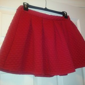 Cute red skirt, size 14/16